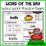 50% OFF 48 HRS Christmas Word of The Day–Vocabulary Word Work
