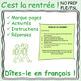 Marque-page: les phrases utiles en classe ! FLE / FSL