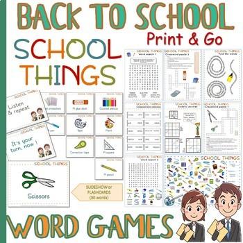 School things - WORD GAMES +++ BACK TO SCHOOL