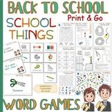 School supplies - WORD GAMES