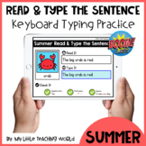 50% OFF 48 HRS Summer Read & Type the Sentence Boom Cards