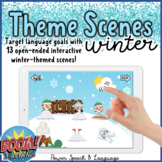 Theme Scenes Winter, Boom Cards Speech Therapy, Holiday Activities, Valentines