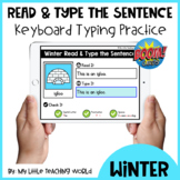 50% OFF 48 HRS Winter Read & Type the Sentence Boom Cards
