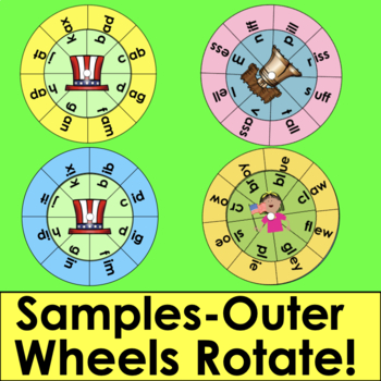 Memorial Day Build A Word Wheels-Make Up To 63 Sets