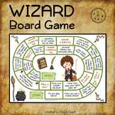 Wizard board game + 6 dice - Present simple