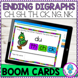 Ending Digraphs Boom Cards CH SH TH CK NG NK   Distance Learning
