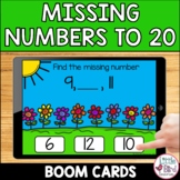 Missing Number to 20 Boom Cards   Counting On