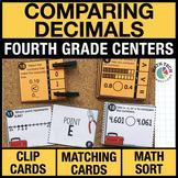 4th - Compare Decimals Math Centers - Math Games