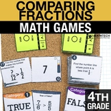 4th - Comparing Fractions Math Centers - Math Games