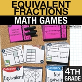 4th - Equivalent Fractions Math Centers - Math Games