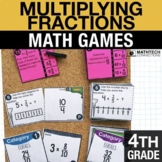 4th - Multiplying Fractions Math Centers - Math Games