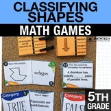 5th - Classifying Shapes Games for Math Centers