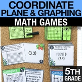 5th - Coordinate Plane and Graphing Games for Math Centers
