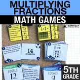 5th - Multiplying Fractions  Math Centers - Math Games