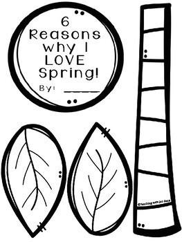 Spring Craftivity ~ 6 Reasons I LOVE Spring!