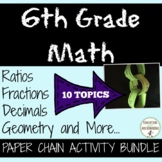 6th Grade Math Activity Paper Chains Bundled!  SAVE