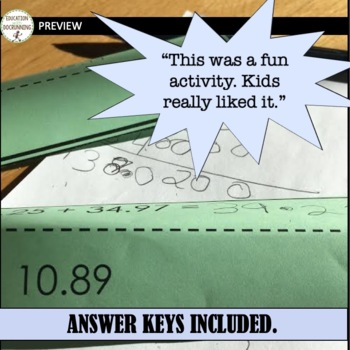 6th Grade Math Activity Paper Chains Bundled for savings all year long