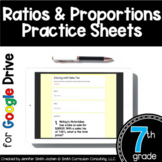 7th Grade Practice Sheets Ratios & Proportions Google Form