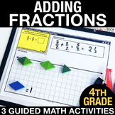 Adding Fractions - Guided Math Activities and Exit Tickets