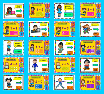 Addition Dominoes:  PowerPoint Game VIDEO PREVIEW: Addition Facts to 10