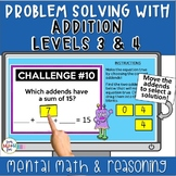 Digital | Addition Mental Math Levels 3 & 4 | Google Slide
