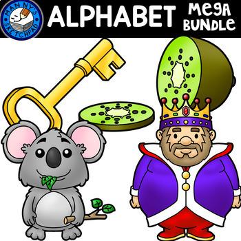 Alphabet Clip Art Bundle: 4 pictures per letter