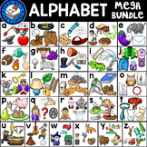 Alphabet Clip Art Bundle: 4 pictures per letter