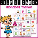 Alphabet Clip Cards, Alphabet Cards with Pictures, Alphabet Practice Pages