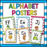 Alphabet Poster Print and Cursive, Alphabet Posters Cursive