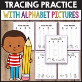 Alphabet Tracing Worksheets Cutting Practice with Scissors Preschool