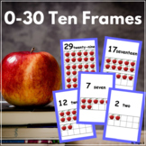 Apple Ten Frames, 0-30 Number Posters for Classroom Decor