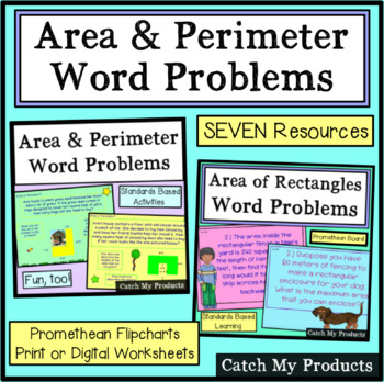 Area and Perimeter Word Problems PROMETHEAN BOARD