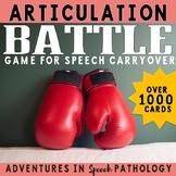 Articulation Battle Game - for Speech Carryover