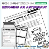 Astronaut Reading Comprehension Passage and Questions