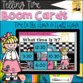 BOOM Cards- Telling Time to the Hour and Half Hour Digital