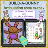 BUILD-A-BUNNY ARTICULATION BOOM CARDS™ 25 sounds & S, L an