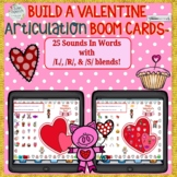 BOOM CARDS™ BUILD-A-VALENTINE ARTICULATION- 25 Sounds In W
