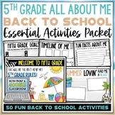 Beach Back to School Activities Fifth Grade Print AND Digital