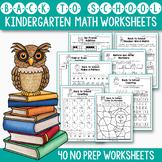Back to School Activities Kindergarten, Math Worksheets #c
