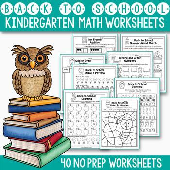 Back to School Activities Kindergarten, Back to School Math Activities