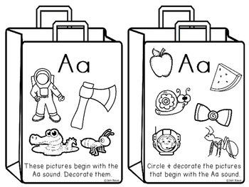 Beginning Letter Sounds and Case Sorting INTERACTIVE BOOKLET