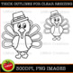 Build A Turkey Clipart Set (For commercial or personal use)