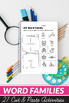 CVC Word Families Worksheets - Cut and Paste Worksheets