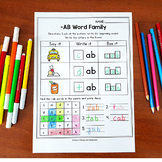 CVC Word Worksheets With Picture Word Family Worksheet, Word Family Kindergarten