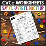 CVCe Activities, Silent E Worksheets tptjulychristmas