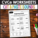 CVCe Activities, Silent E Worksheets - Cut & Paste Activity