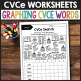CVCe Activities, Silent E Worksheets - Graphing