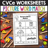 CVCe Activities, Silent E Worksheets - Picture Word Match
