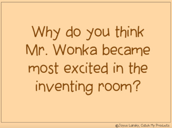 Charlie and the Chocolate Factory Novel Study for Promethean Board Use