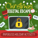 Christmas Activities DIGITAL Escape Room | Distance Learning